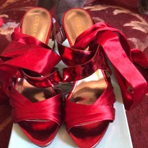 Red stiletto heels